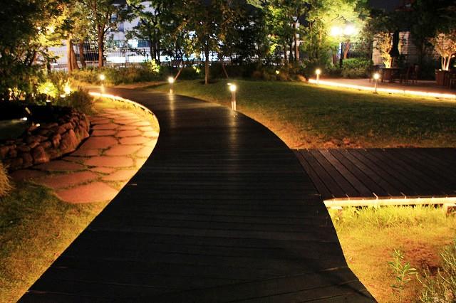 светодиодное уличное освещение +на столбах