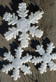 снежинки - поделки на новый год