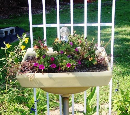 раковина в саду - ландшафтный дизайн фото