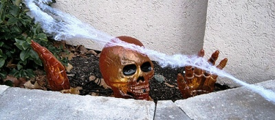 поделки на halloween - череп
