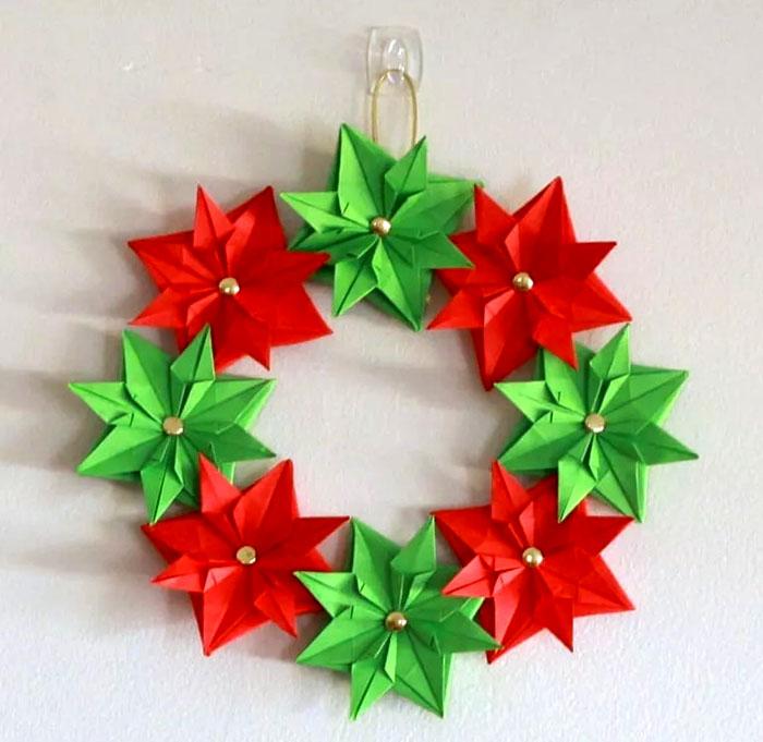 Венок из звезд оригами