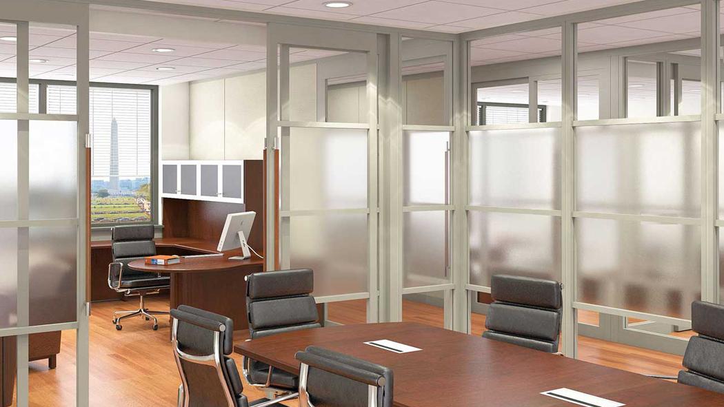 Зонирование офисного помещения при помощи перегородок
