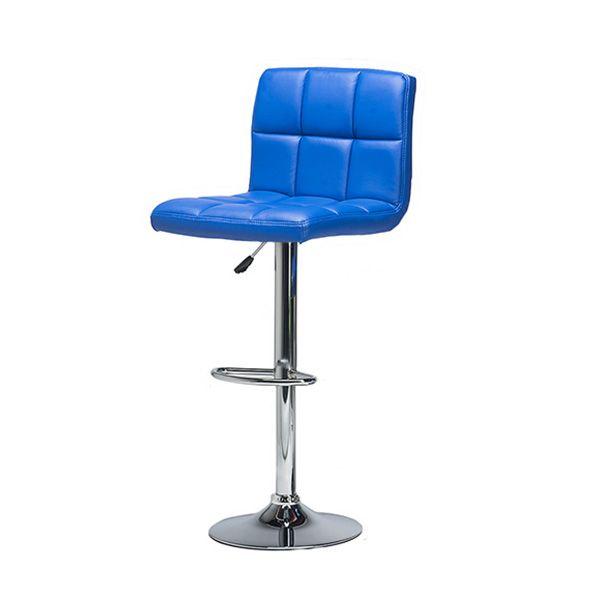 Полубарный мягкий стул с обивкой из искусственной кожи с каретной стяжкой.
