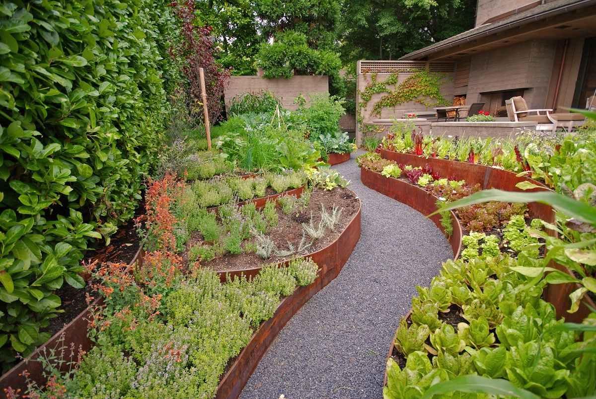 Ландшафтный дизайн огорода и сада