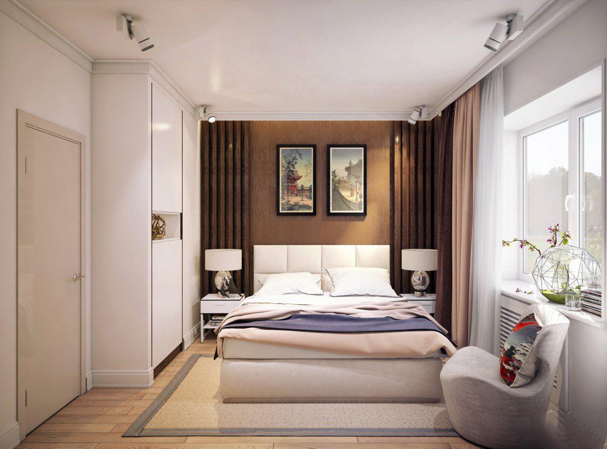 Особенности квадратной спальни